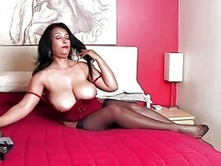breathtaking dark brown momma with huge bazongas