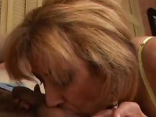 sexy golden-haired milf mikela blows him and gets
