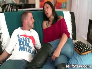 Sexy Latina milf with a big ass fucking part1