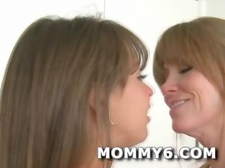 Ultimate mom and daughter fantasy threeway