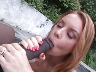 heavy chested redhead momma sucks massive dark