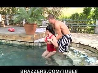 big tit hot pool teacher gives massage copulates