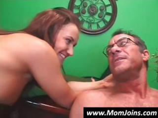 big-breasted milf and her youthful daughter have