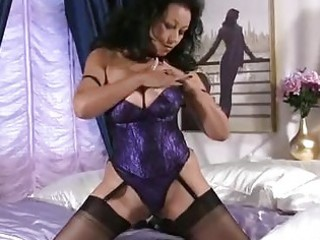 large titties aged stroking pussy