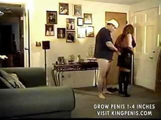 Busty brunette mature keeps her boots on while