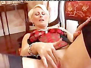 pierced mature in darksome fully fashioned nylons