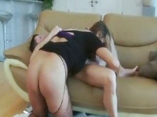 lascivious mama getting dicked over couch