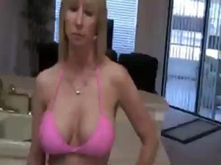 blonde mama is sucking on the neighbour boys