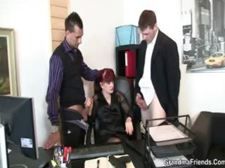 mature office slut enjoys dongs