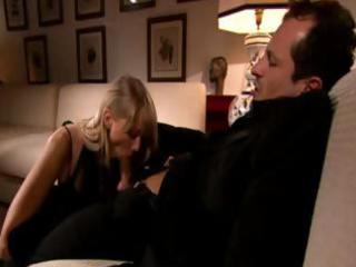 rich wench golden-haired d like to fuck blows his