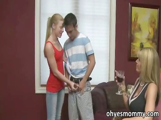 Stepmom and stepdaughter compete for man