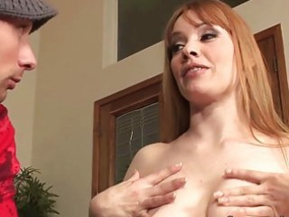 breasty blonde milf shags with lewd youthful