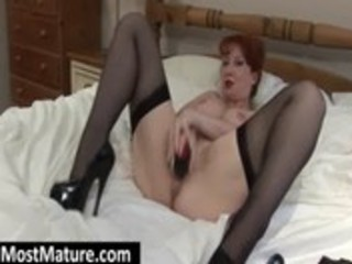 milf in hose toying soaked beaver