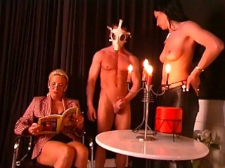 naughty mature teacher and two enjoyable slaves
