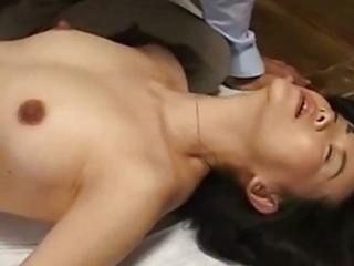 Milf in panty fingered giving blowjob on the floor