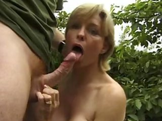 Busty mature outdoor anal
