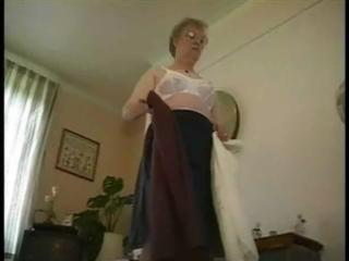 grandma undresses
