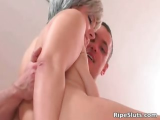 slutty aged hooker receives that is soaked cookie