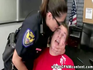 sexually excited police sweethearts with their