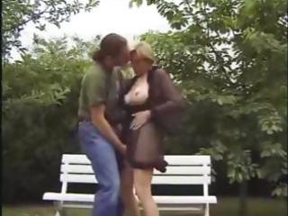 Milf babe with big boobs gets her blonde cunt