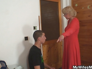 wife finds her chap fucking mother in law