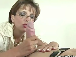 british aged female-dom is fond of gags