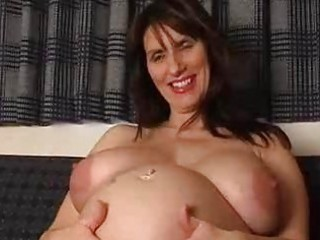 preggo non-professional milf widens her gaping