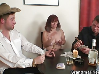 undress poker leads to hard threesome