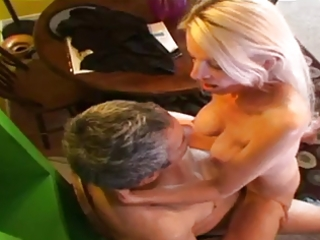 older rides a cock and receives a mouthful of cum