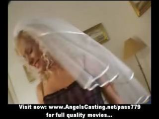 hot golden-haired mother i as bride does oral-job