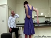 older lady in nylons gets spanked