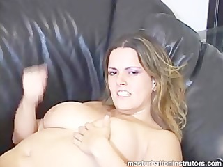 hawt and pleasing big titted jerk off instructor