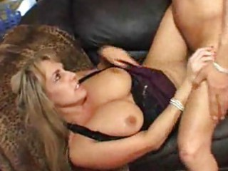 Big titted milf is glad her boyfriend came home