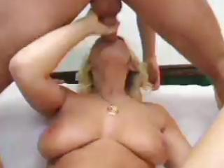 busty blonde mother i anal play