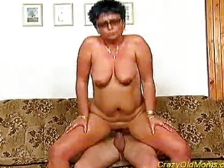 nasty old mama gets fucked hard and does blowjob