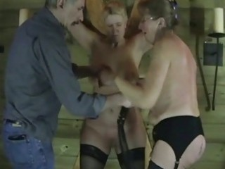 two older dilettante slaves in raunchy punishment