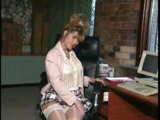british d like to fuck whore anna in an office