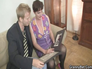 hawt threesome with nasty old whore
