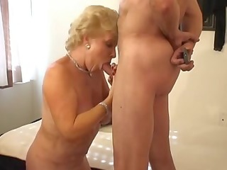 hot golden-haired granny smoking sex