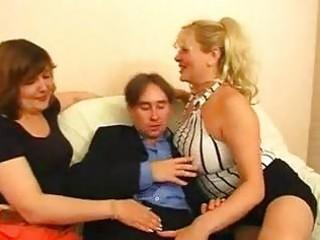 two russian big beautiful woman matures one guy