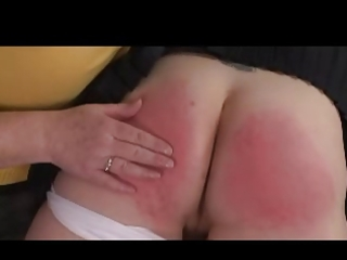 domina granny spanks cutie over her knee