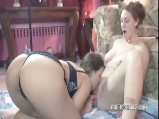 breasty lynne sharing her toys with a cute coed