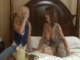 Busty milf deauxma squirting in young girls face!