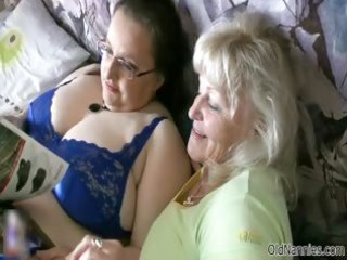 horny granny loves having lesbo sex part1