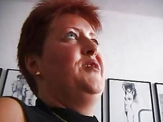 excited redhead mature german