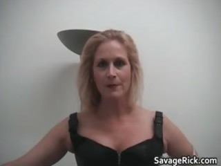 sexy black leather golden-haired mother i