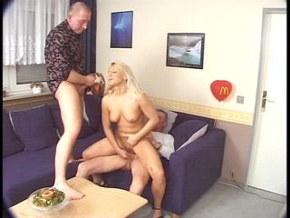 younger lady fucks two older studs (clip)