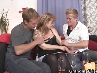 cocksucking mom is riding penis