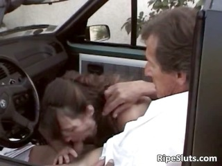 some naughty chick gratifying her driver part1
