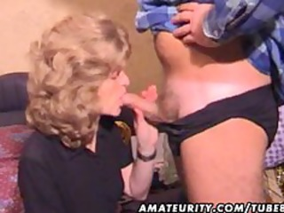 aged amateur wife homemade oral-job with cum in